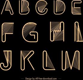 alphabet background yellow lines rays decor