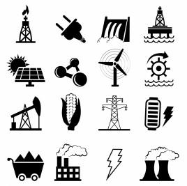 Alternative Energy options icons
