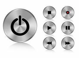 Aluminium buttons