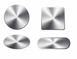 Aluminium buttons | blank set