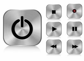 Aluminium buttons (square)