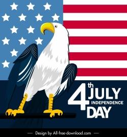 america independence day banner flag eagle decor