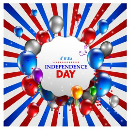 American Independence day background with balloons