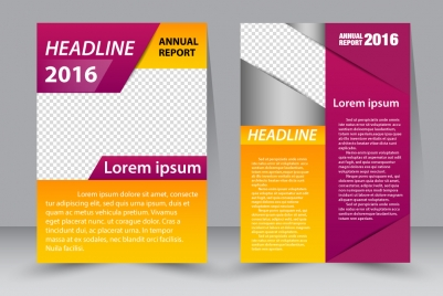 annual finance brochure design with modern style