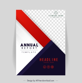 annual report cover template elegant contrast checkered geometry