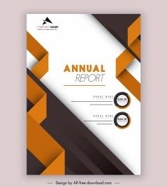 annual report template modern elegant 3d decor