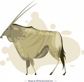 antelope painting classical design cartoon sketch