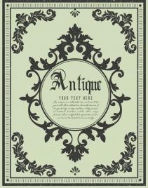 antique decorated background symmetric pattern design