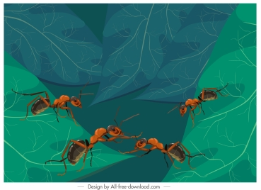 ants painting colored classic 3d design
