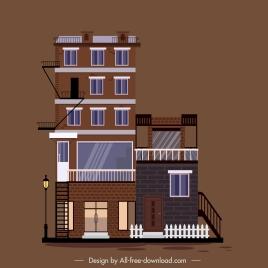 apartment building template modern exterior decor