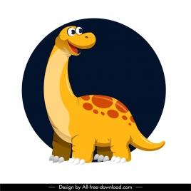 apatosaurus dinosaur icon cute cartoon character design