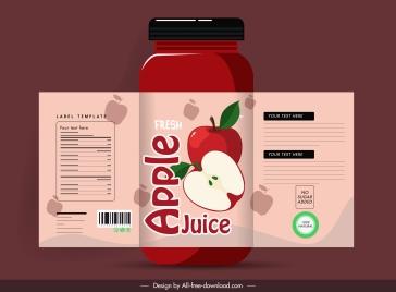 apple juice label template classic flat decor