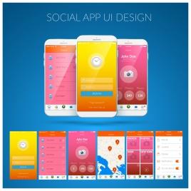 appliance ui design with smartphones illustration