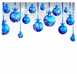 Arc background with blue christmas balls.