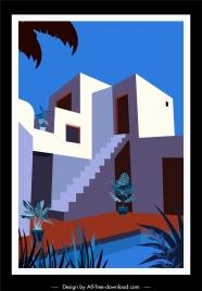 architecture design template colored classical sketch