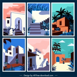 architectures templates colorful classic sketch