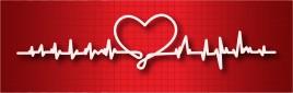 Сardiogram with a heart shape