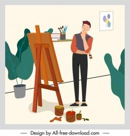 artwork background painter sketch cartoon design