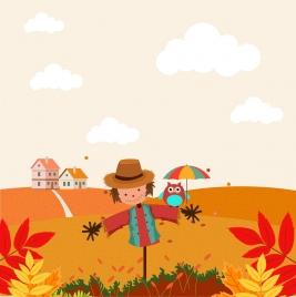 autumn background colorful landscape decoration dummy ornament