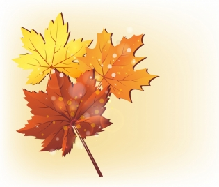 autumn background colorful leaves icons decoration