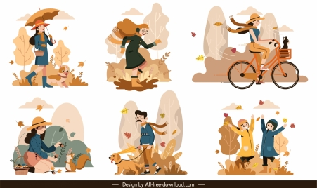 autumn backgrounds lifestyle sketch colored classic cartoon