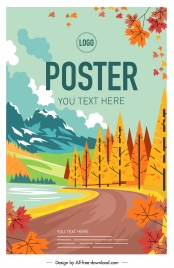 autumn poster colorful classical decor
