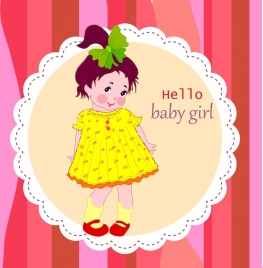 baby birthday celebration background cute girl ornament
