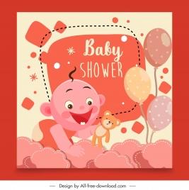 baby shower background joyful kid decor colorful flat