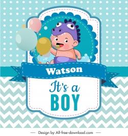 baby shower card template cute boy sketch