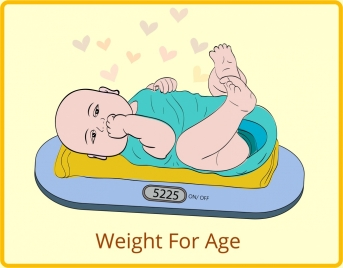 baby weight drawing cute colored cartoon design