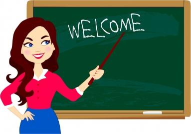 back to school background teacher chalkboard icons