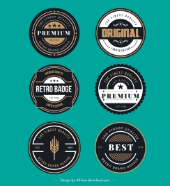 badge templates luxury classic circle decor