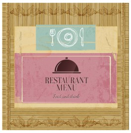 bamboo pattern restaurant menu cover