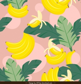 banana pattern colorful classical sketch