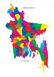 Bangladesh Map - Vector