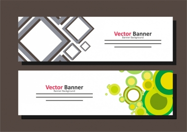 banner template design colorful geometric design