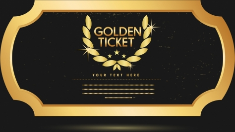 banner template elegant golden style laurel icon