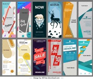 banners templates modern vertical standee design