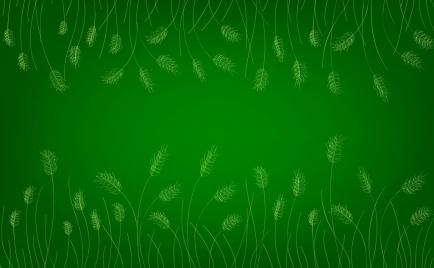 barley background green design repeating handdrawn sketch