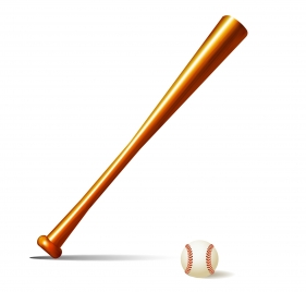 base ball bat and ball