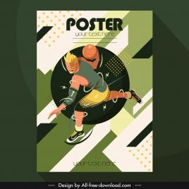basket ball poster dynamic powerful decor cartoon character