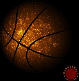 basketball background glittering ball decoration