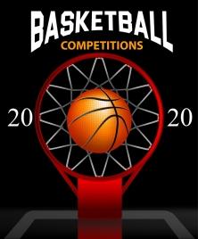 basketball banner ball basket hoop number decor