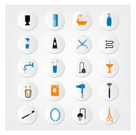 Bathroom and toilet icons