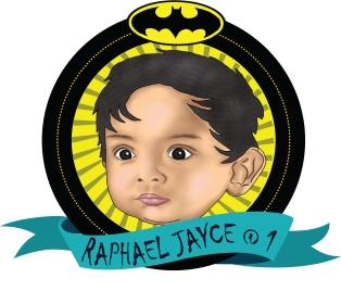 batman personalized drawing