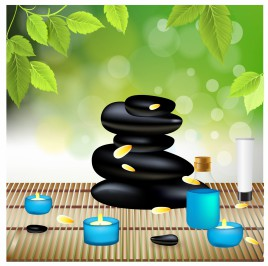 Beautiful Spa Composition With Zen Stones