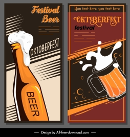 beer festival banners classical dark dynamic design