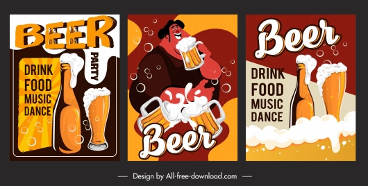 beer festive posters colorful eventful classical design