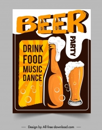 beer party banner foam glass bottle colored classic