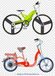 bicycle advertising banner colored modern design